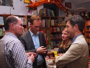 Robert Zepf (Direktor der UB Rostock), Ole und Carina Landschoof, Roman Bucheli