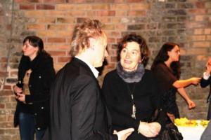 Prof. Wensierski, Dekan der Philosophischen Fakultät im Gespräch mit Karina Jens